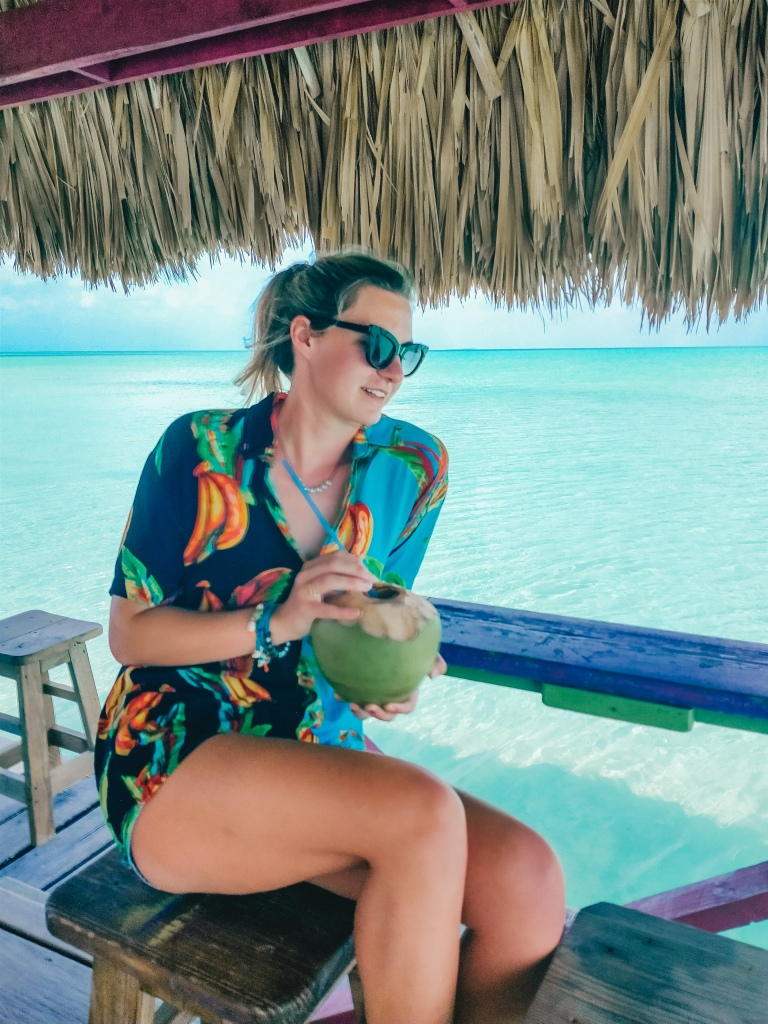 secret beach belize coconut